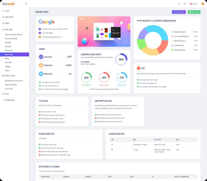 SEO Audit Software Reporting Tool