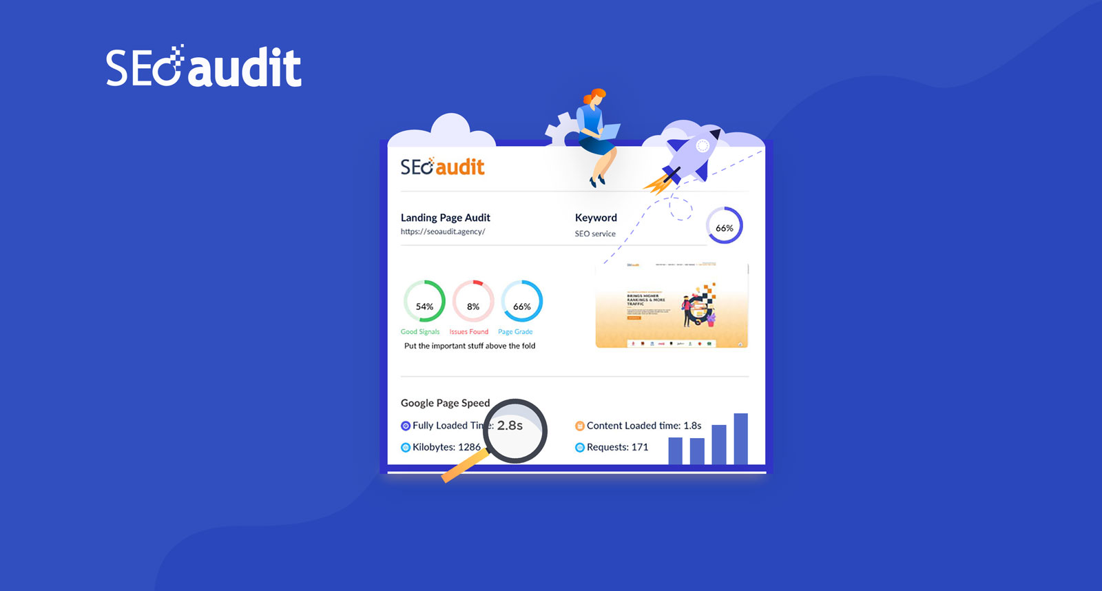 Get Instant SEO Score Report for you Website.